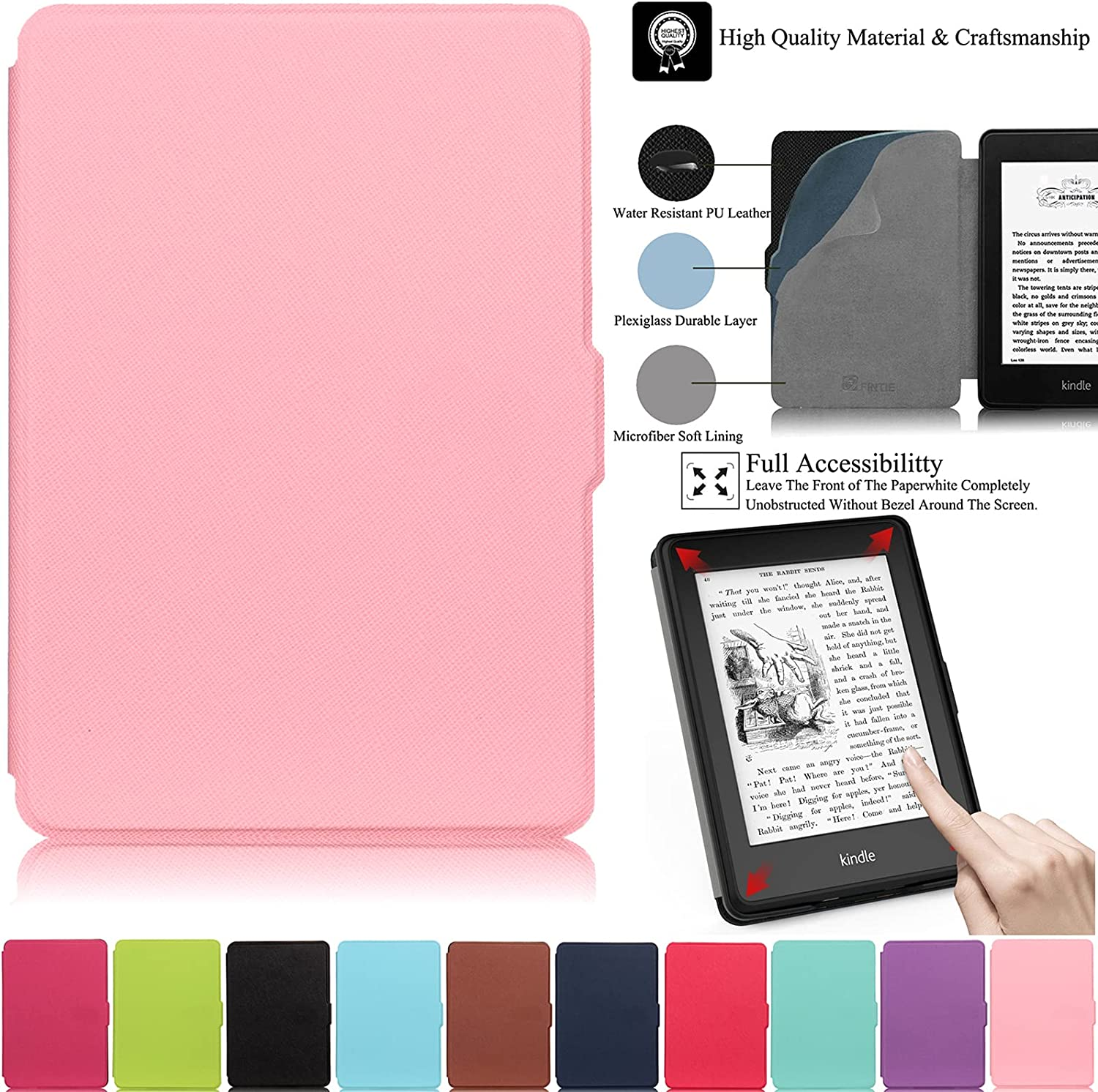 Kindle Paperwhite Case Artyond Max 89% OFF PU Sl Leather Wake With Max 70% OFF Auto