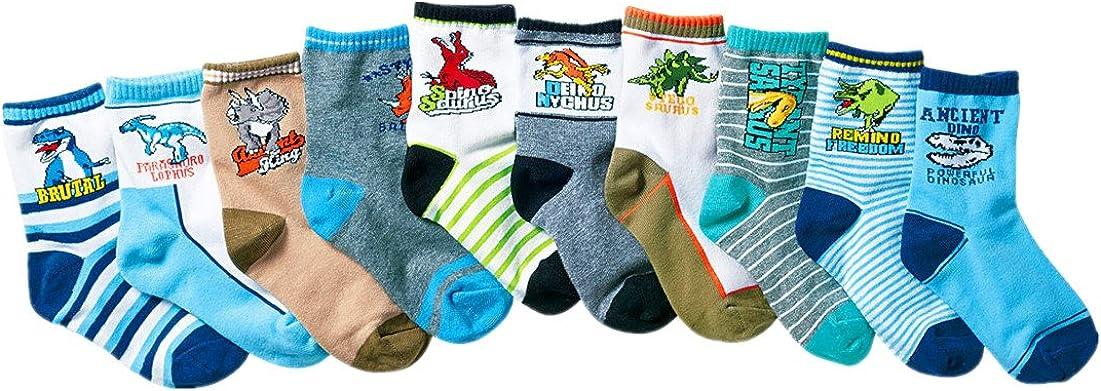 Little Boys Athletic Socks Cotton Kids Colorful Socks Pack of 10