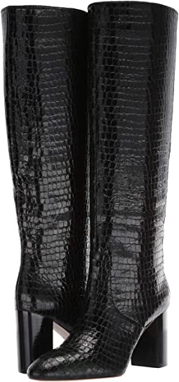 Black Shiny Embossed Croc