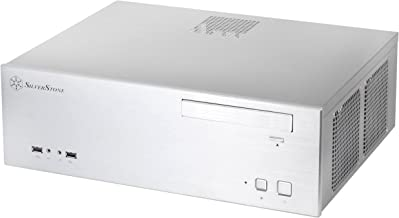 SilverStone Technology Aluminum Front Panel and SECC Body Micro ATX HTPC Computer Case with 2X USB 3.0 Front Ports in Silv...