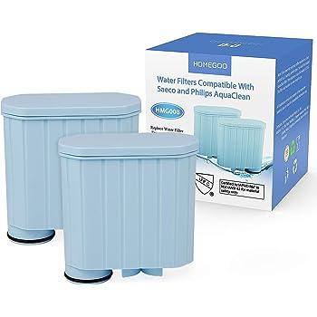 Filtro de Café compatible con Philips AquaClean, Homegoo Ablandador de Carbón Activado Filtro de Agua Filtro de prevención de Sarro compatible con CA6903 / 10/00 / 01/22 / 47 (2 paquetes)