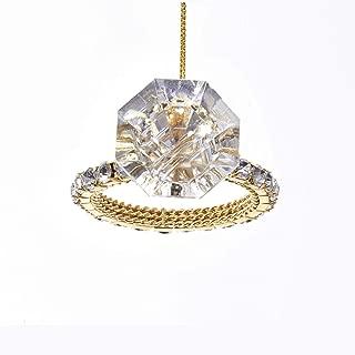 Kurt Adler Holiday Shiny Diamond Ring Ornament Home Decor