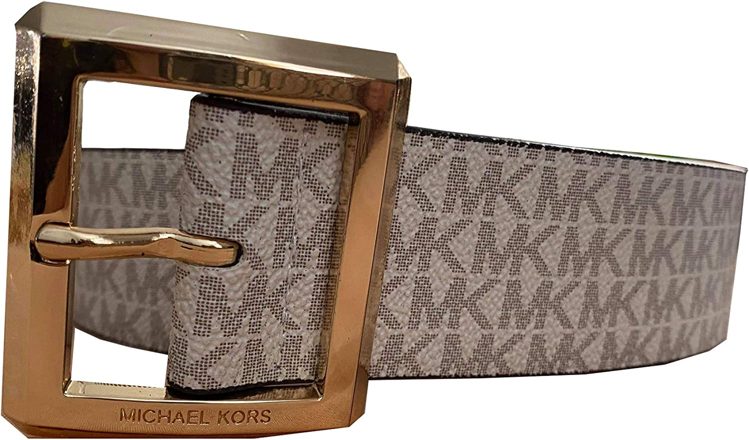 NEW before selling Shipping included Michael Kors Women's Leather Belt X-Large Vanilla