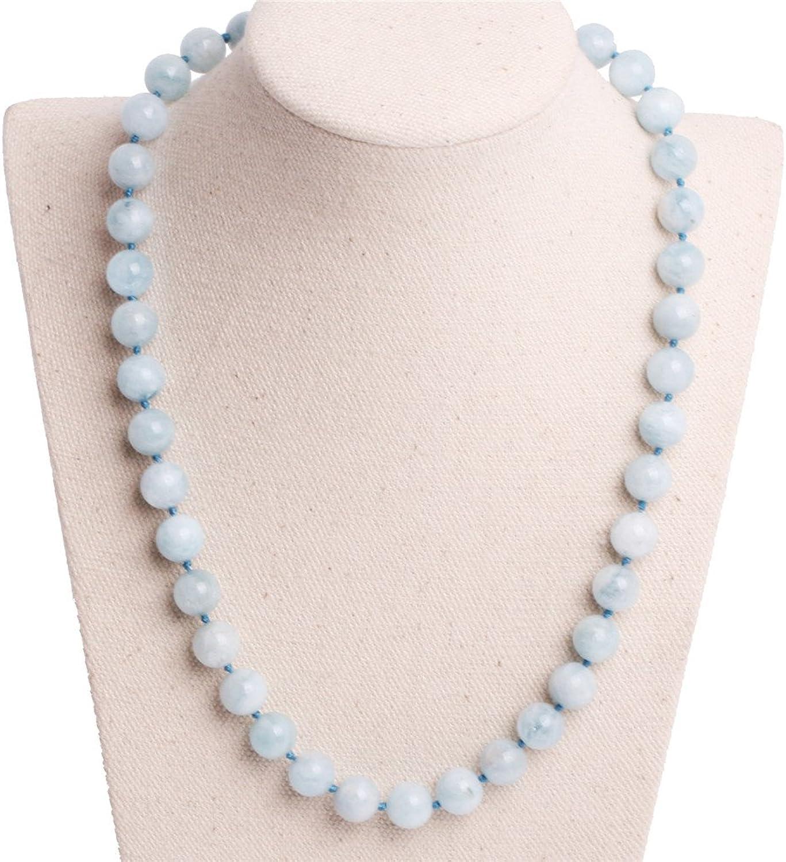 GEMinside Necklace Semi Aquamarine Gemstone Fashion Jewelry For Women 18  9mm