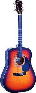Falcon FG100SB - Guitarra acústica con cuerdas metálicas (tilo, tipo dreadnought), Multicolor