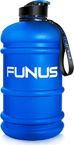 FUNUS Big Water Bottle 2.2L BPA Free Half Gallon Water Bottle Hydro Jug Reusable Water Bottle for Men Women Fitness S...