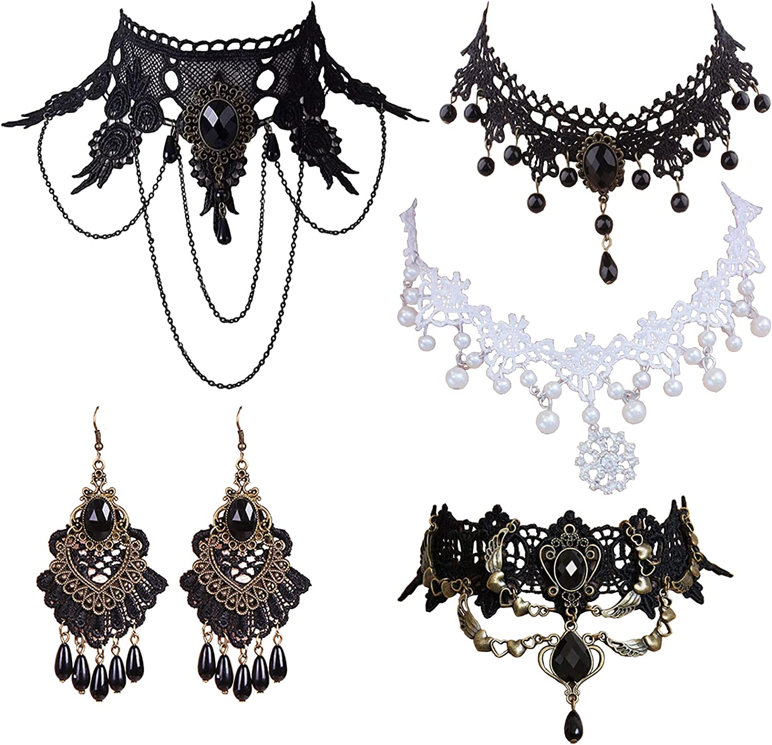 Faccubee 5 Pieces SEAL limited product Set Halloween Sexy Ele Popular brand in the world Women Girl Lady Jewelry