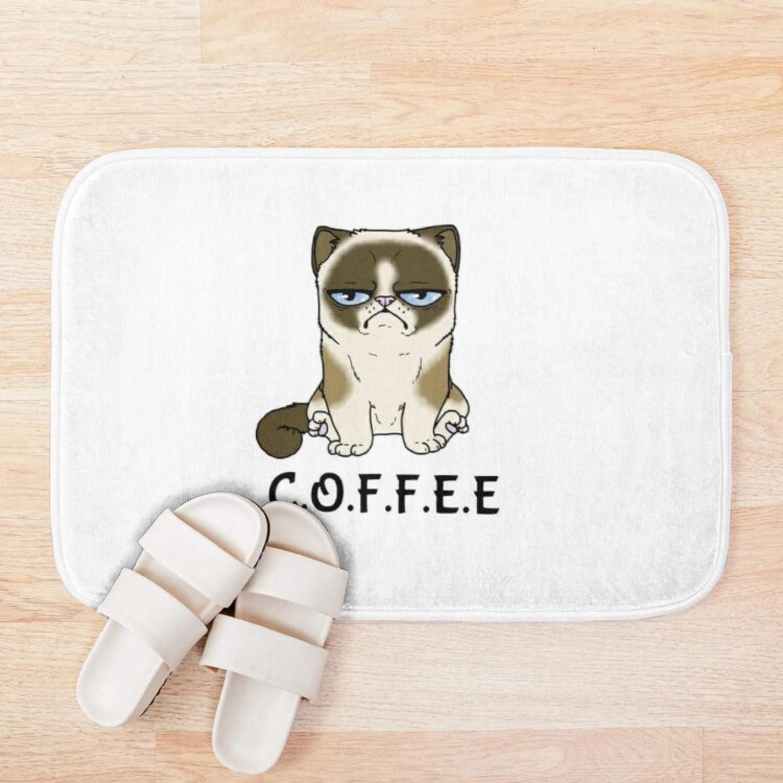 free RQJOPE Bath mat Doormat Coffee Print Bathroo 100% quality warranty Mat 3D Pattern