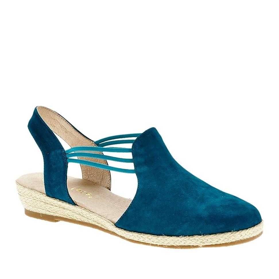 事実上化学者エミュレーションDavid Tate Womens Nelly Round Toe Casual Leather Wedged Sandals