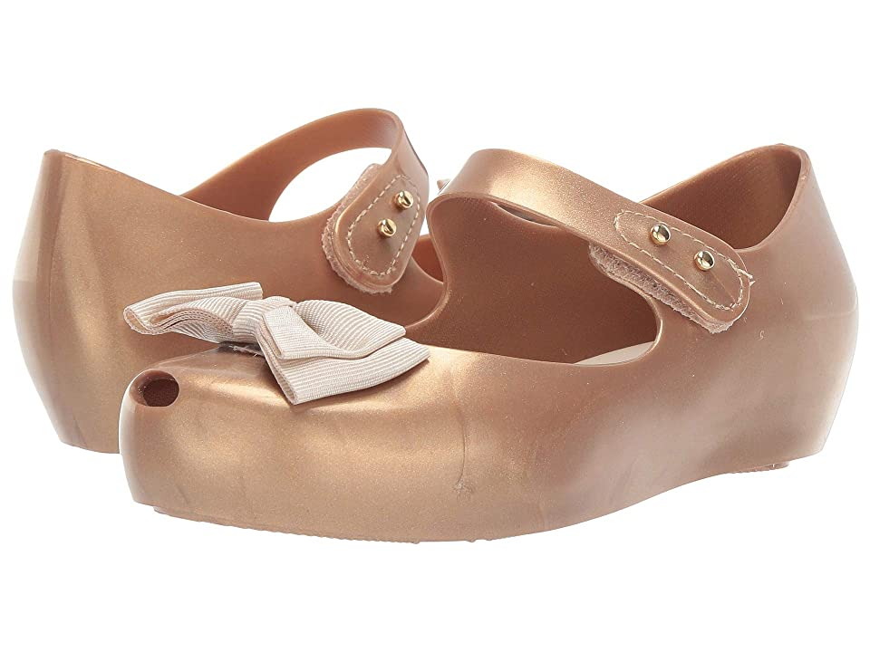 Mini Melissa Ultragirl Sweet (Toddler) (Gold Metallic) Girls Shoes