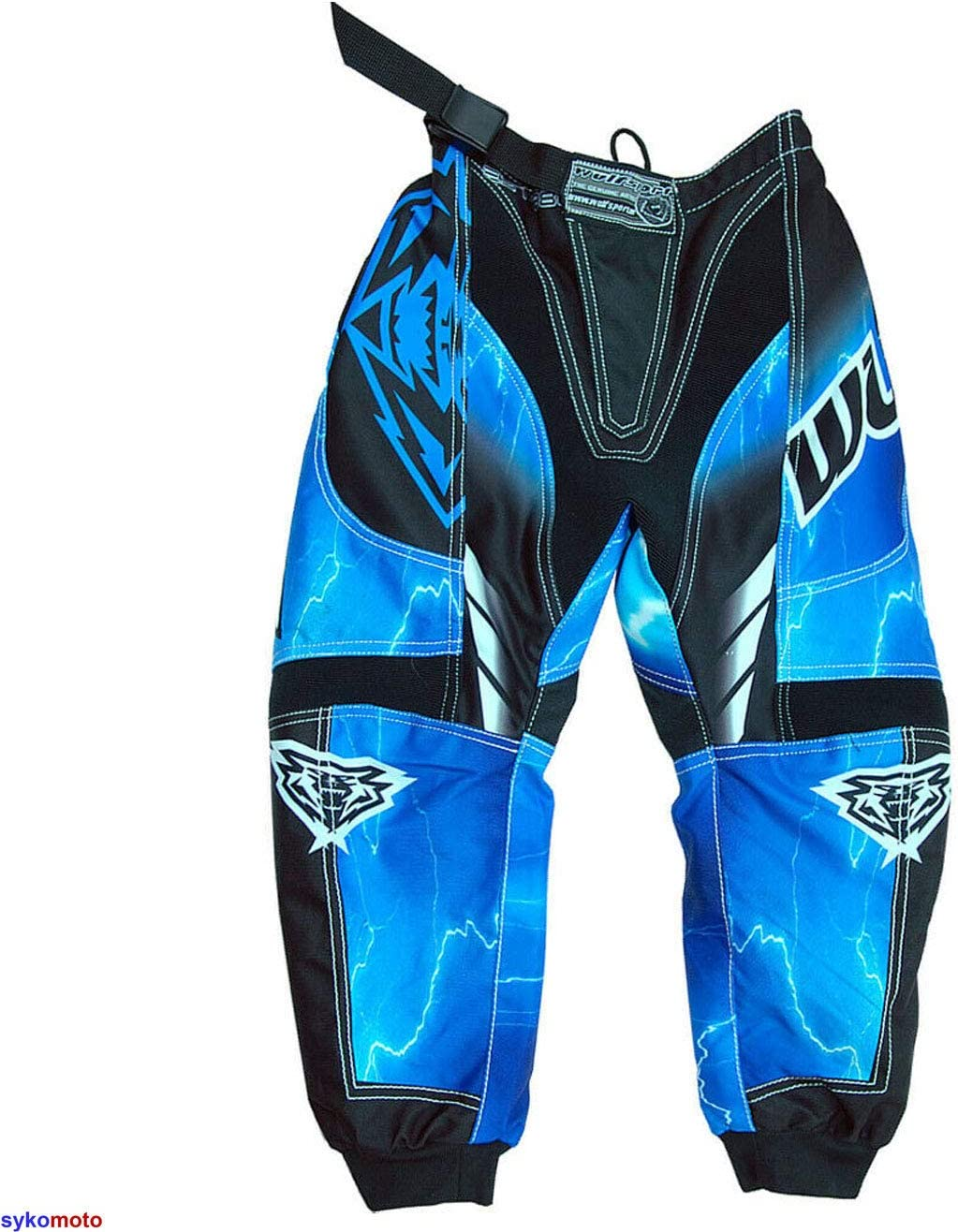 20 inches BLUE WULFSPORT MOTORCYCLE WULF KIDS FORTE PANTS 2020 SUPERCROSS DIRT PIT BIKE JUNIOR TROUSER