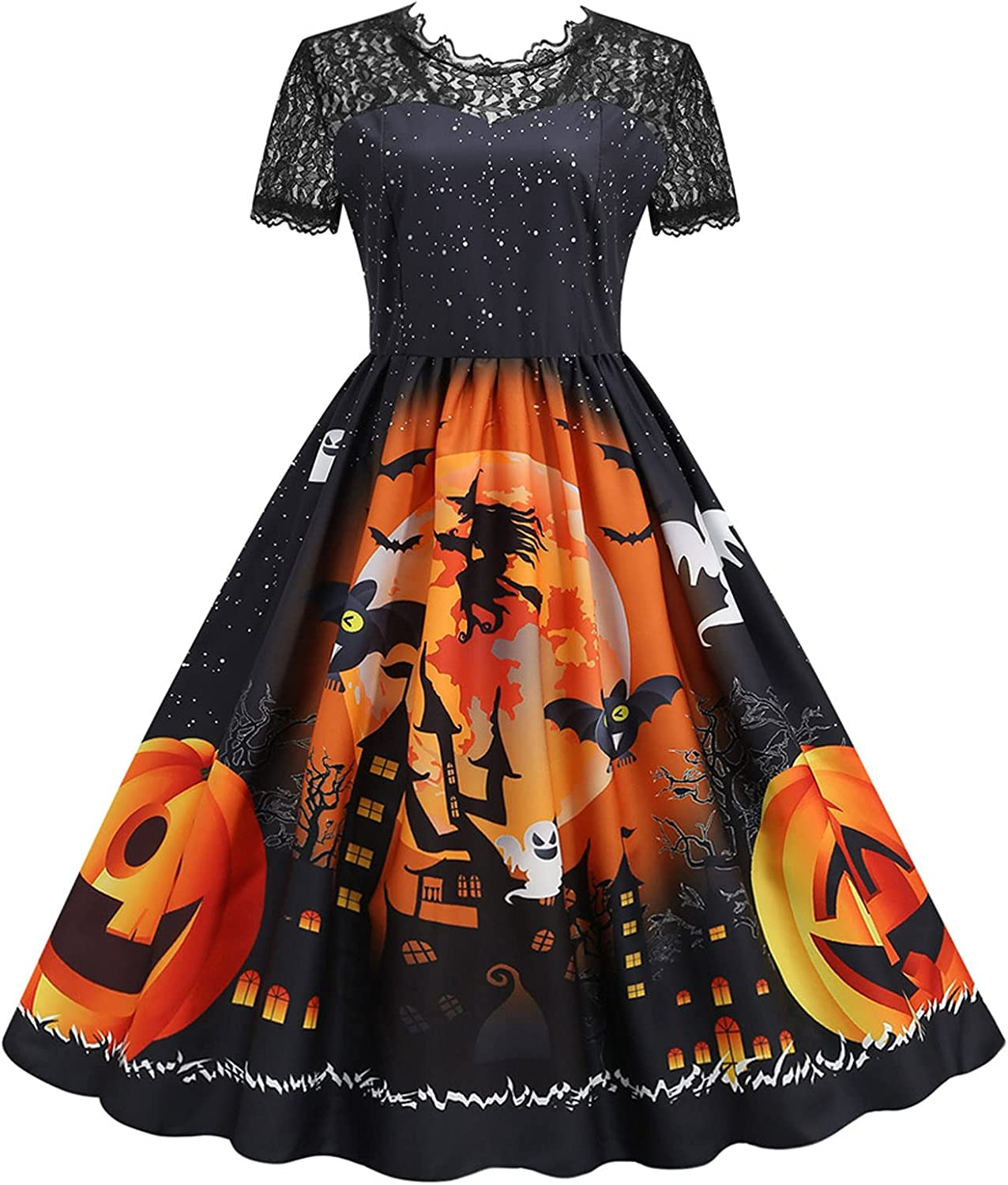 Halloween OFFicial store Dresses 2021 Women Vintage Housewife Long Sleeve Shipping included 50s