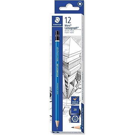 ステッドラー 鉛筆 2B マルス ルモグラフ 筆記 デッサン 12本 100-2B*12
