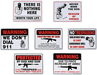 Second Amendment Novelty Signs, 9 inches by 12 inches - Pack of 7
