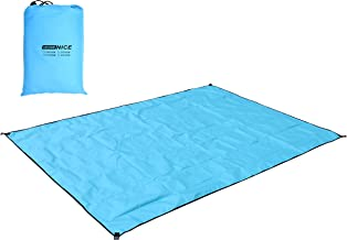 WoneNice Camping Tarp, Waterproof Tent Footprint for Camping, Hiking and Survival,118 x 118 inches