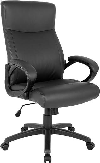 SixBros. Bürostuhl, Schreibtischstuhl, hohe Rückenlehne & Dicke Polsterung, ergonomischer Drehstuhl für's Büro oder Home-Office, stufenlos…