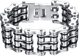Men's Stainless Steel Extra Large and Heavy Biker Bicycle Chain Bracelet