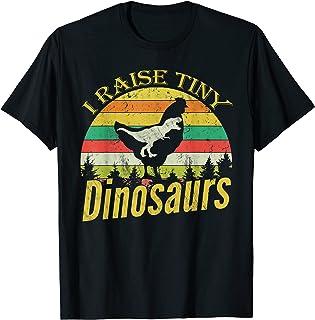 I Raise Tiny Dinosaurs, Vintage Chicken Lover Funny Gift T-Shirt