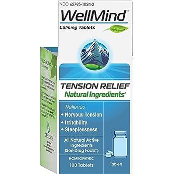 MediNatura WellMind Natural Calming Tension/Nervousness Relief - 100 Tablets