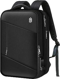EZ GOGO リュック ビジネスリュック 超大容量 メンズ用 バックパック 防水 15.6インチラップトップ用 usbポート付き 3WAY手提げ 通勤 出張 旅行 通学 ブラック【19-32L】