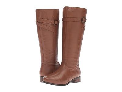 Trotters Lyra (Cognac Veg Tumbled Leather) Women