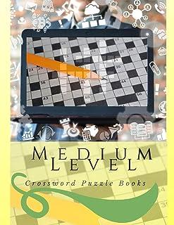 Medium Level Crossword Puzzle Books: Fun & Easy Crosswords Award, easy crossword puzzles crosswords in easy-to-read, Vocab...