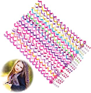 Freewalk 18 Pcs Hair Bands for Girl Women, Braided Rubber Hair Band Hair Styling Twister Clip Twist Barrette Spiral Spin H...