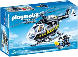 PLAYMOBIL- Helicóptero de Las Fuerzas Especiales Juguete, Multicolor (geobra Brandstätter 9363)