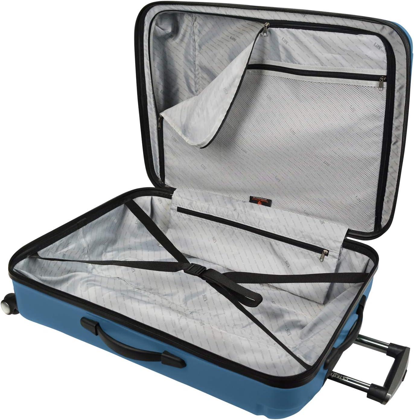 U.S 3-Piece Traveler Hytop Spinner Luggage Set Blue