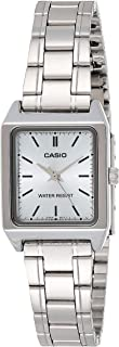 Casio Women's Analog Dial Stainless Steel Band Watch - Ltp-V007D-2Eudf, Silver Band