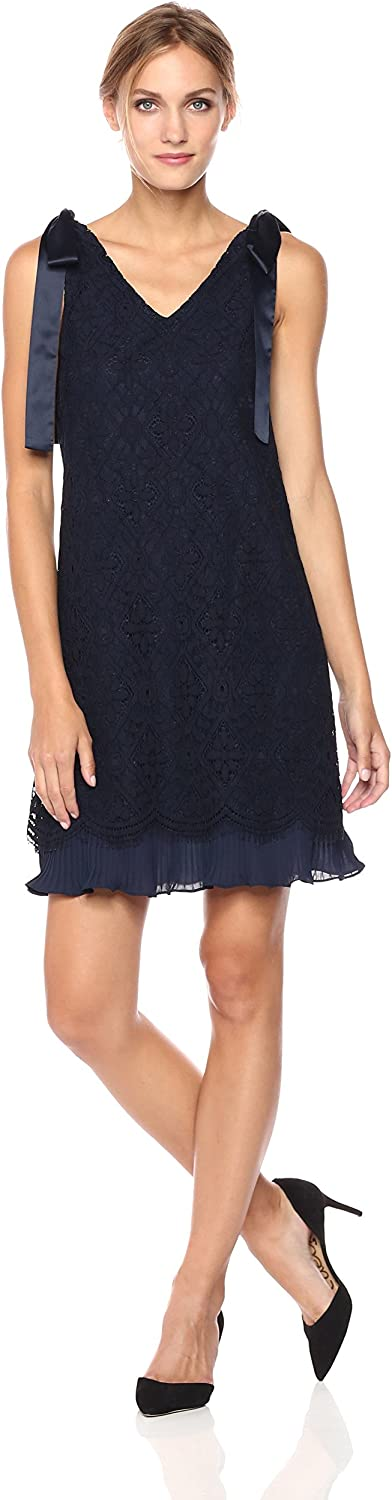 Nanette Nanette Lepore Womens Slvls Lace Shift with Ties Dress