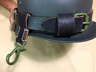 WWII German Leather Helmet Carrier - Black (Repro), WWII Reproduction, WW2 Reproduction,WWII/WWI, Collectibles Goods, Collectibles Products,WWII repro,Leather Helmet, Helmet, WWII Helmet