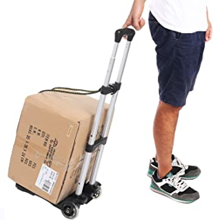Sponsored Ad - Kemanner Lightweight Folding Hand Truck Portable Luggage Cart with Wheels & Bungee Cord for Personal, Movin...