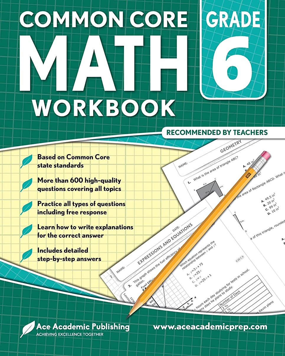 カフェ苦情文句マンモス6th grade Math Workbook: CommonCore Math Workbook