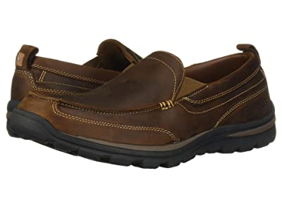 SKECHERS Relaxed Fit Superior Gains (Dark Brown) Men