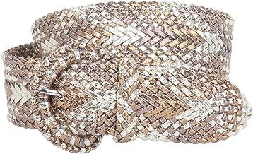 2 Inch Wide Hand Made Soft Metallic Woven Crack Multi Braided Round Belt