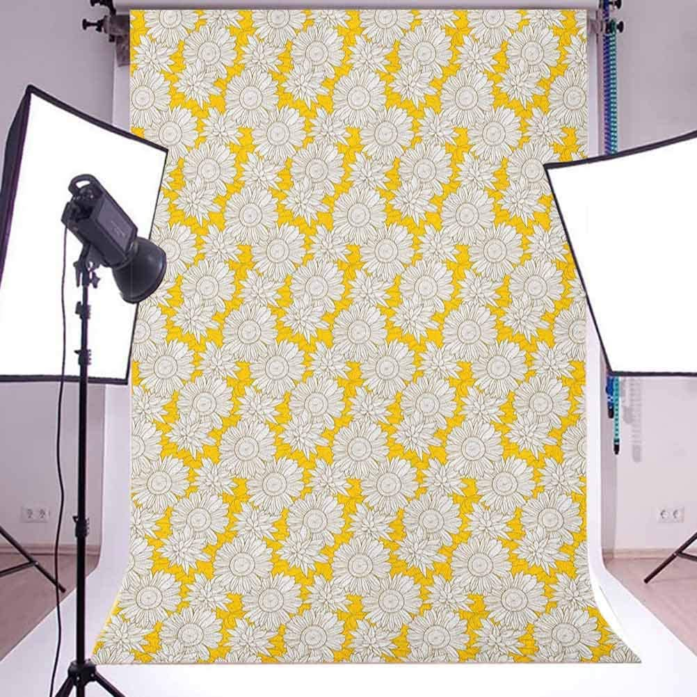 8x12 FT Garden Vinyl Photography Backdrop,Fresh Forest with Colorful Flowers on Hill with Sunrise in Morning Idyllic Scenery Background for Party Home Decor Outdoorsy Theme Shoot Props