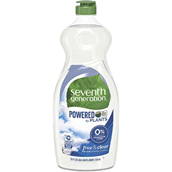 Seventh Generation Dish Liquid Soap, Free & Clear, 25 Fl Oz