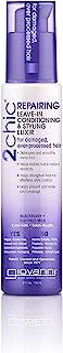 Sponsored Ad - GIOVANNI 2chic Repairing Leave-In Conditioning & Styling Elixir, 4 oz. Blackberry & Coconut Milk, Nourishin...