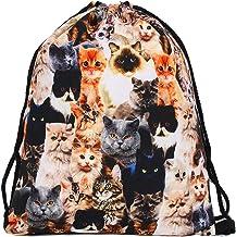 【ディアーアニマルズ】 猫 巾着袋 猫柄 巾着袋 猫ショルダーバッグ バックバッグ 猫カバン リュック