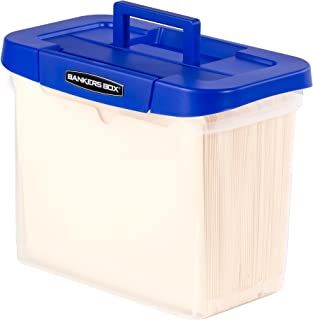 Bankers Box Heavy Duty Portable Plastic File Box with Hanging Rails, Letter, 1 Pack (0086304)