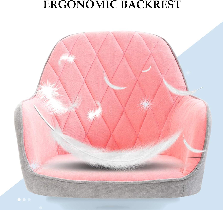 YF-Barstool Chaises de Bureau Chaise de Bureau Chaise de Bureau d'ordinateur - Support Lombaire Ergonomique à Dossier Moyen avec Roues, Hauteur réglable Chaises de Gamer Brown
