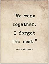 best walt whitman quotes we were together of top rated
