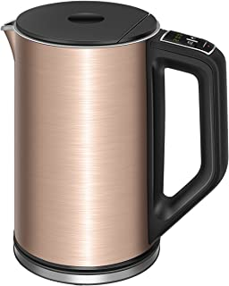 Electric Kettle Temperature Control, CUSIBOX 1.5L Double Wall 100% Stainless Steel Water Kettle with Keep Warm Function, 1500W Fast Boil Cordless Tea Kettle with Auto Shut-Off & Boil Dry Protection