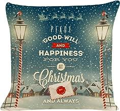 Nstcher New Christmas Cotton Linen Pillow Case Sofa Cushion Cover Home Decor