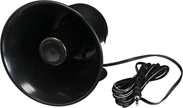 "Outdoor Trumpet Car Horn Speaker - 5"" Pa Horn Speaker w/ 8 Ohms Impedance, 15 Watt Power, Adjustable Bracket, 10' Pre-Wired Cord, 3.5mm Mono - Pa Speaker for Cb Radio Car Siren System-  Pyle PS5"