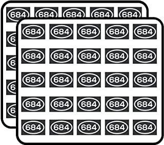684 Area Code Sticker American Samoa Pago Pago Pago City Pride Love Sticker for Scrapbooking, Calendars, Arts, Kids DIY Crafts, Album, Bullet Journals 50 Pack