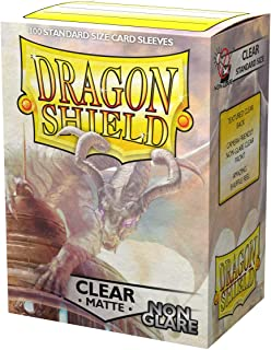 Dragon Shield Non-Glare Matte Clear Standard Size 100 ct Card Sleeves Individual Pack
