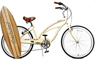 Fito Anti Rust Light Weight Aluminum Alloy Frame, Marina Alloy 7-Speed for Women - Vanilla, 26