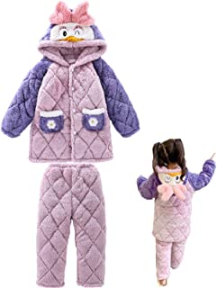 Autumn and Winter Children's Pajamas Set, Boy/girl Soft Flannel Warm Top Shirt and Pants Set, Suitable for Bedroom and Liv...